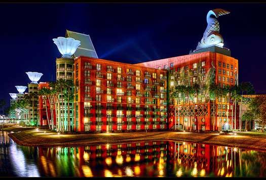 Quais são os hotéis dentro da Disney